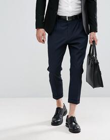 Укороченные брюки Selected Homme - Темно-синий 1158159