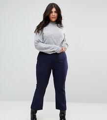 Укороченные расклешенные брюки ASOS CURVE - Темно-синий 1116254