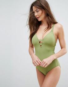 Зеленый слитный купальник Seafolly - Зеленый 1096202