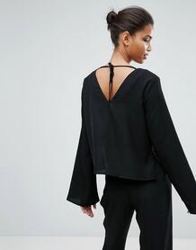 Блузка с расклешенными рукавами mByM Moves Enny - Черный Minimum 902654