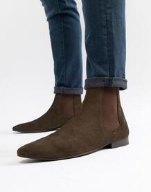 Замшевые ботинки челси Walk London Mark - Коричневый 1066358