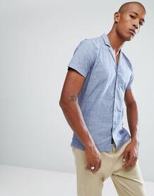Рубашка с отложным воротником Minimum - Темно-синий 1134951