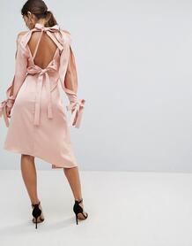 Платье с бантом на спине Keepsake - Розовый 1086589
