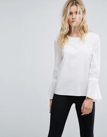 Блузка с рукавами клеш Selected - Белый 1154839