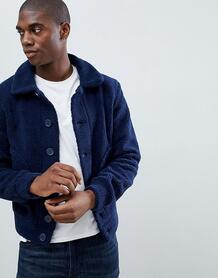 Куртка из искусственной цигейки Another Influence - Темно-синий 1022267
