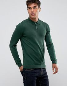 Зеленая облегающая футболка-поло ASOS - Зеленый 1091436