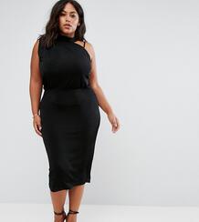 Асимметричное платье миди ASOS CURVE - Черный 1095544