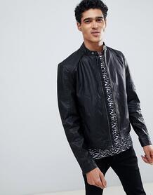 Байкерская куртка из искусственной кожи Jack & Jones - Черный 1116340