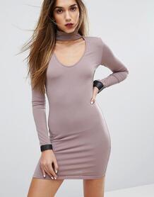 Облегающее платье с горловиной-чокер Motel - Фиолетовый 998036