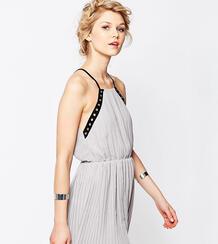 Шифоновое платье-майка с отделкой люверсами True Decadence Petite 348696