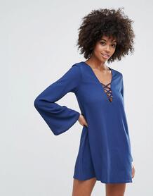 Свободное платье со шнуровкой Motel Miriam - Темно-синий 1105933
