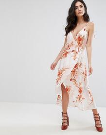 Платье с запахом и цветочным принтом Mink Pink Lolita - Мульти Minkpink 1024967