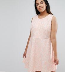 Короткое приталенное кружевное платье AX Paris Plus - Розовый 1009416