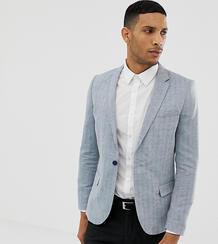 Приталенный пиджак с шевронным узором Only & Sons - Синий 980389