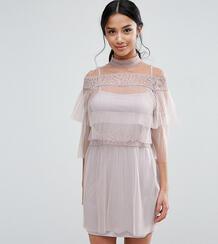 Плиссированное платье мини с кружевными вставками True Decadence Petit True Decadence Petite 975893