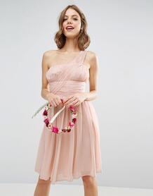 Платье на одно плечо ASOS DESIGN - Розовый 939475