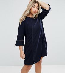 Цельнокройное платье с расклешенными рукавами Truly You - Темно-синий 978333