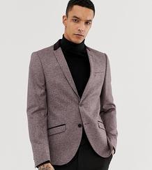 Приталенный твидовый пиджак с бархатной отделкой Heart & Dagger 969753