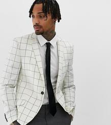 Зауженный клетчатый пиджак из ткани с добавлением шерсти Heart & Dagge Heart & Dagger 969727