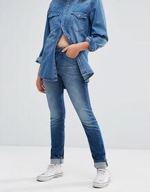Узкие прямые джинсы с классической талией Lee Elly - Синий 1093536