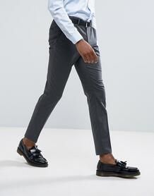 Облегающие строгие эластичные брюки Selected Homme - Серый 1033974