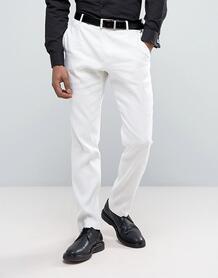 Узкие льняные брюки Selected Homme - Белый 1021876