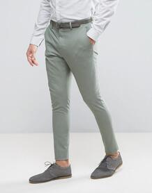 Супероблегающие брюки Selected Homme - Зеленый 1021100