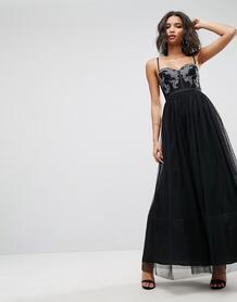 Платье макси из тюля ASOS - Черный ASOS DESIGN 1101280