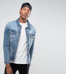 Выбеленная джинсовая куртка зауженного кроя ASOS DESIGN Tall - Синий 1083599