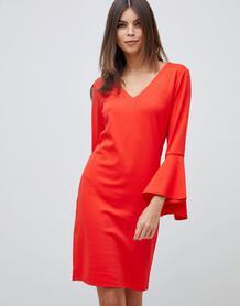 Платье с рукавами-клеш Vila - Красный 1146612