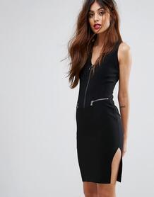 Платье-футляр на молнии Sisley - Черный 1105090