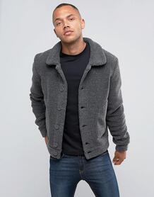 Куртка из искусственной цигейки Another Influence - Серый 1022266