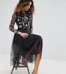 Платье миди из тюля Needle & Thread - Темно-синий 1092662