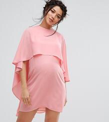 Свободное платье с кейпом Queen Bee Maternity - Розовый 1121903