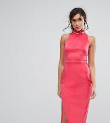 Платье миди с высоким воротом и отделкой Silver Bloom - Оранжевый 1101372