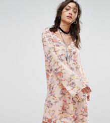 Платье на пуговицах с цветочным принтом Glamorous Tall - Мульти 1081302