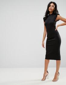 Платье-футляр миди с вырезом на спине ASOS - Черный ASOS DESIGN 1060593