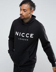 Худи черного цвета с крупным логотипом Nicce - Черный Nicce London 1033826