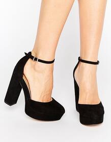 Туфли на блочном каблуке и платформе ASOS PARODY - Черный ASOS DESIGN 933948