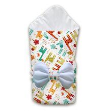 Одеяло квадратное с бантом Жирафы Ququbaby 945046