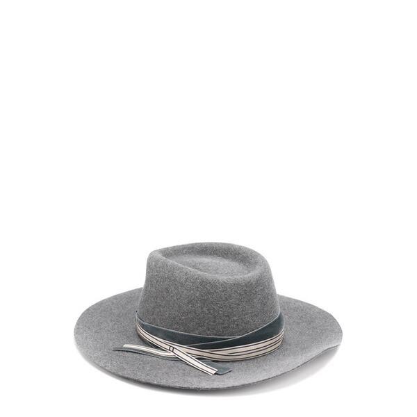 Фетровая шляпа с тесьмой