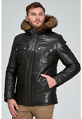 Кожаная куртка с подкладкой из овчины