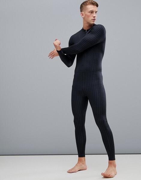 Компрессионное боди со сплошным принтом логотипа Calvin Klein Performa
