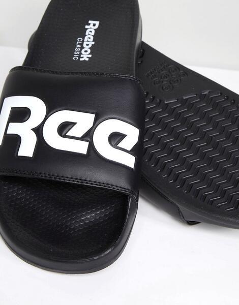 Черные шлепанцы Reebok CN0735 - Черный