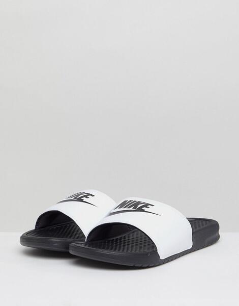 Белые шлепанцы Nike Benassi JDI 343880-100 - Белый