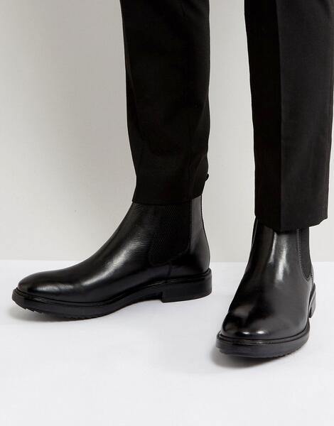 Кожаные ботинки челси Base London Dalton - Черный