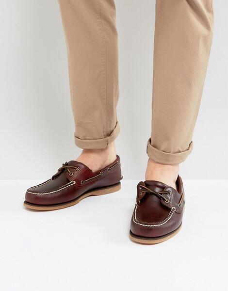 Коричневые кожаные мокасины Timberland - Коричневый