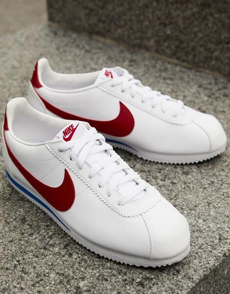 Белые кожаные кроссовки Nike Cortez 749571-154 - Белый