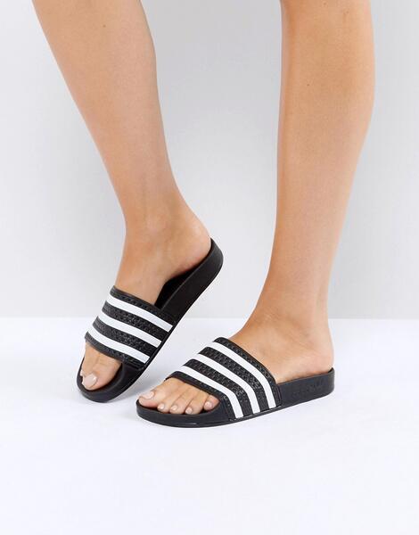 Черные шлепанцы adidas Originals Adilette - Черный