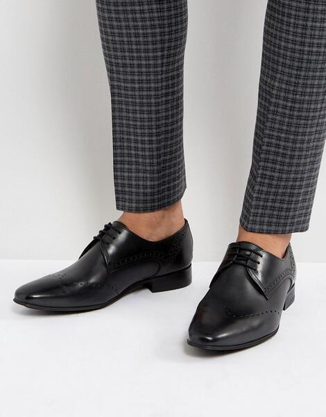 Черные кожаные броги H By Hudson Erato - Черный